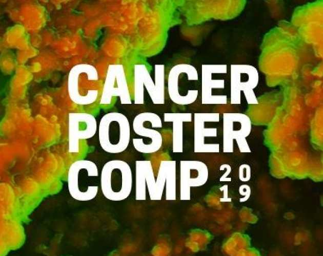 Cancer poster competition text over image