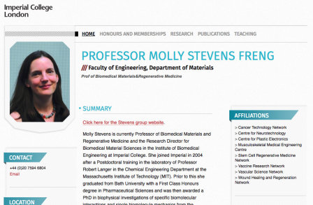 Professor Molly Stevens' PWP page