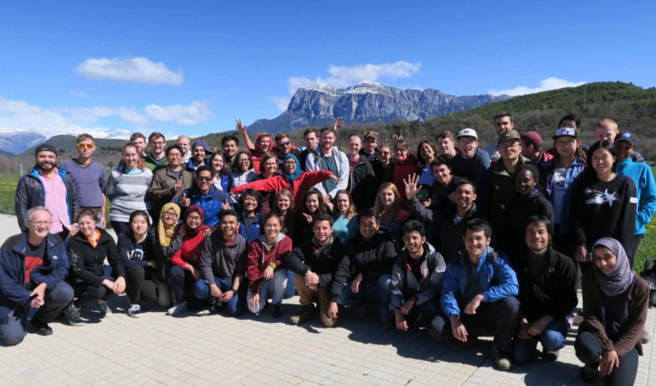 Group of MSc students on Pyrenees fieldtrip
