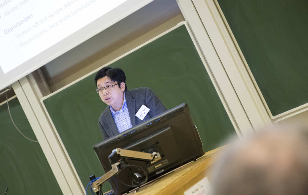 Dr Rongjun Chen (Department of Chemical Engineering) on: 'New technologies for vaccine delivery and stabilisation.'
