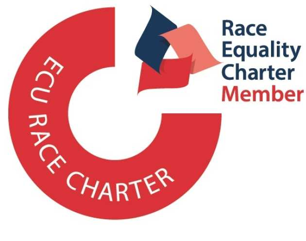 Logo reads Race Equality Charter member