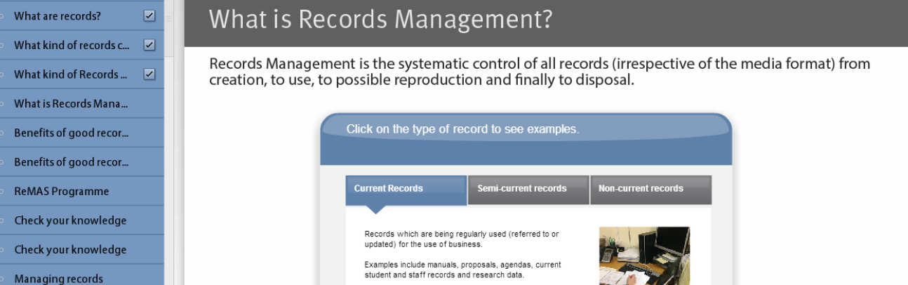 Records Management training image