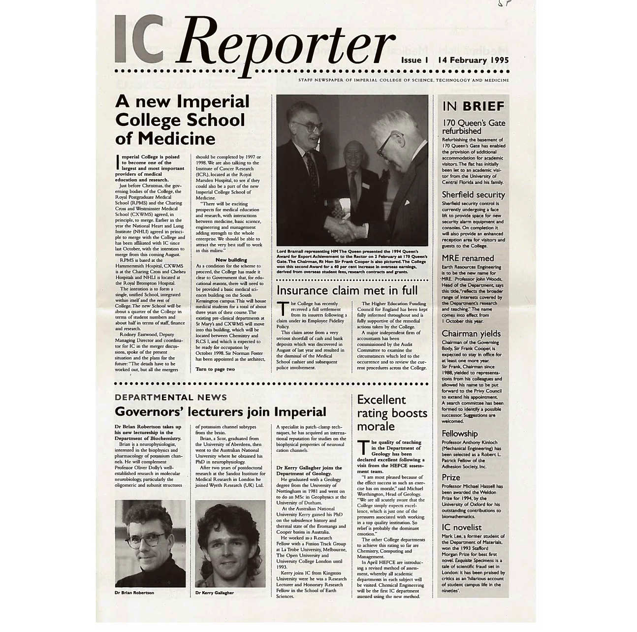 Issue 1, 14 February 1995