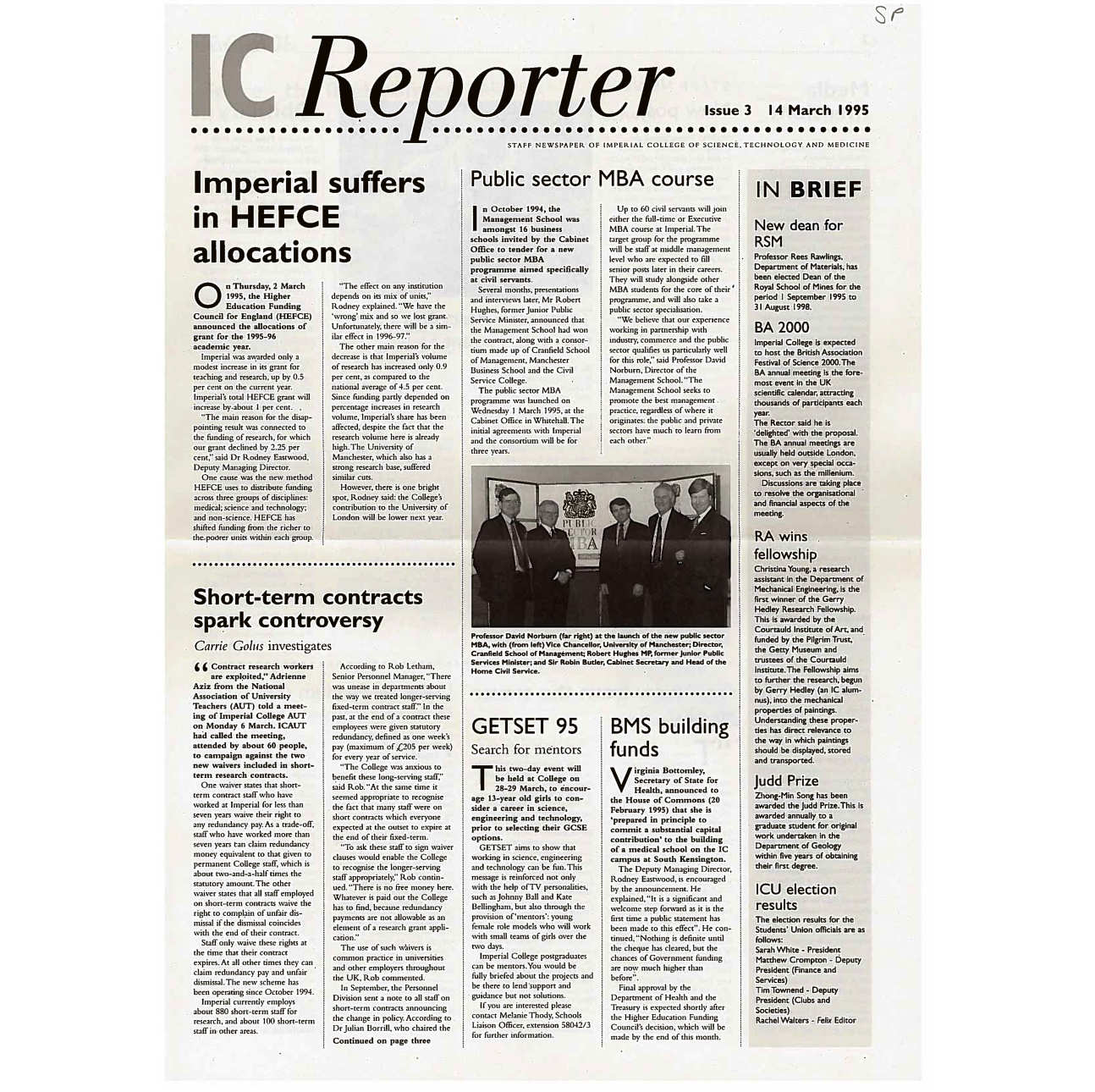 Issue 3, 14 March 1995