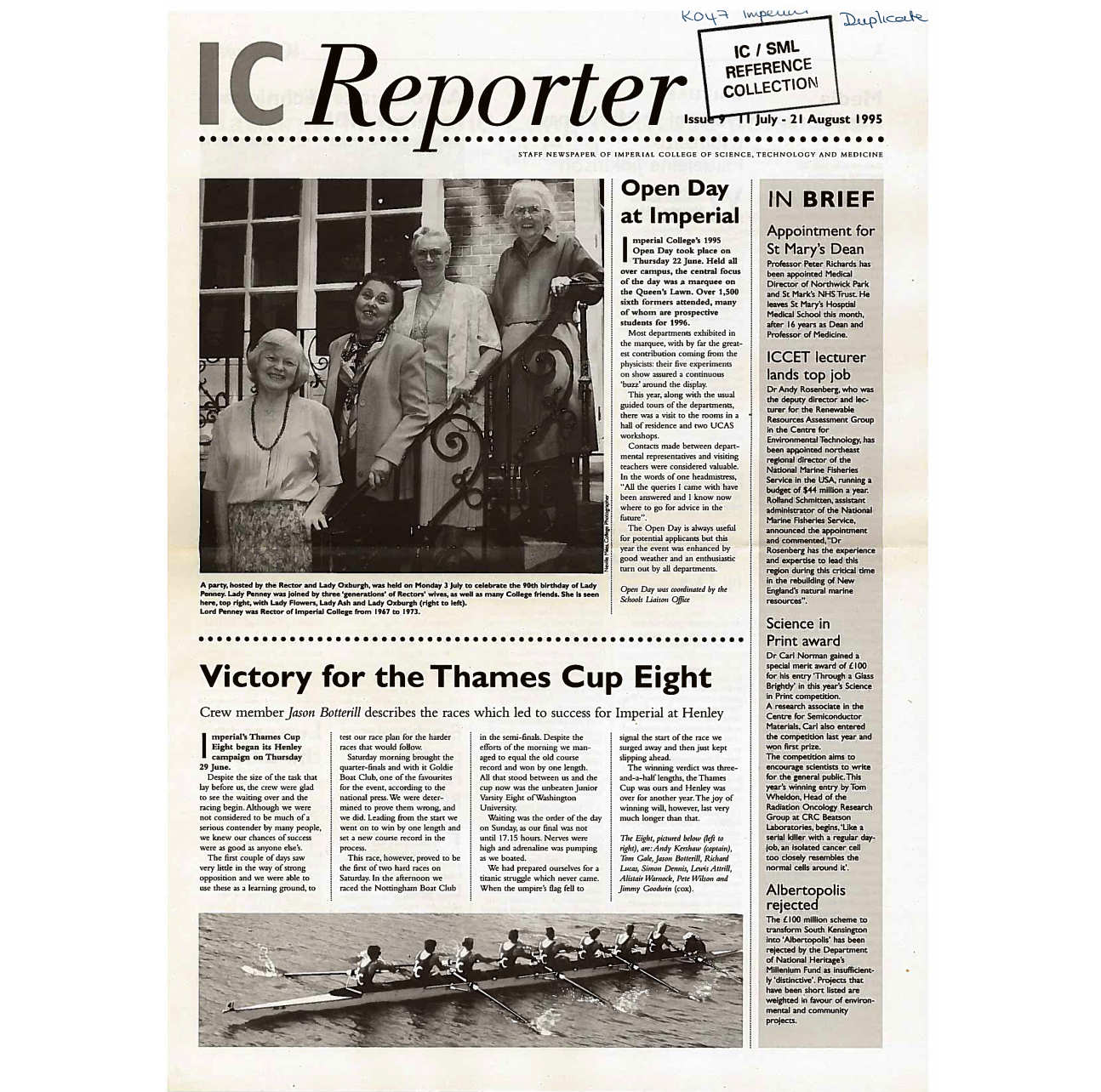 Issue 9, 11 July - 21 August 1995