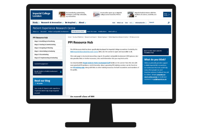 Icon of computer screen inset with screenshot of PPI Resource Hub
