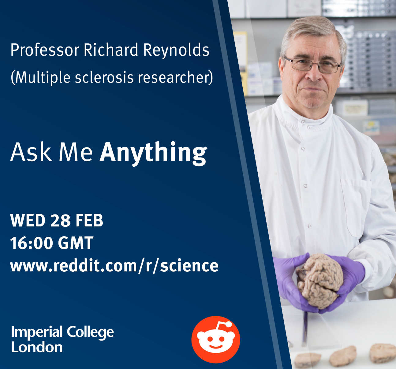 A poster publicising Professor Reynolds's live Q&A session