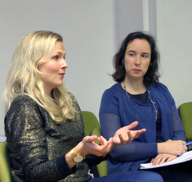 Mothers discuss their experience of maternity care at St Mary's Hospital at a St Mary's Patient Experience Hub event in November 2016