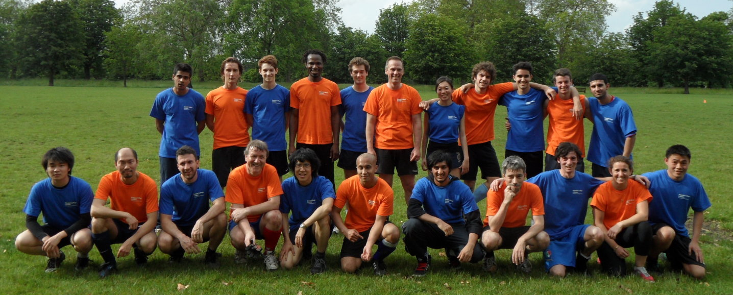 Staff and student football teams