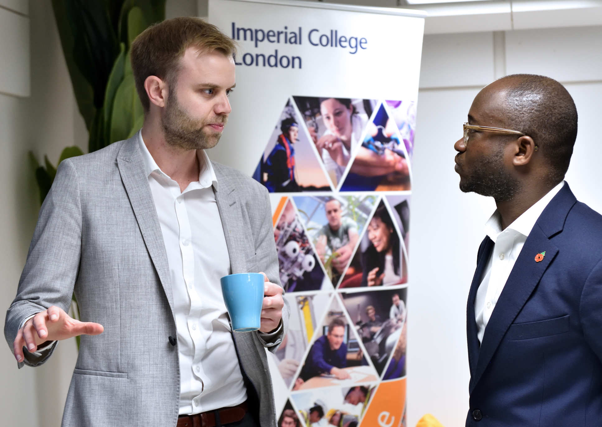 Universities and Science Minister Sam Gyimah interacts with one of the developers