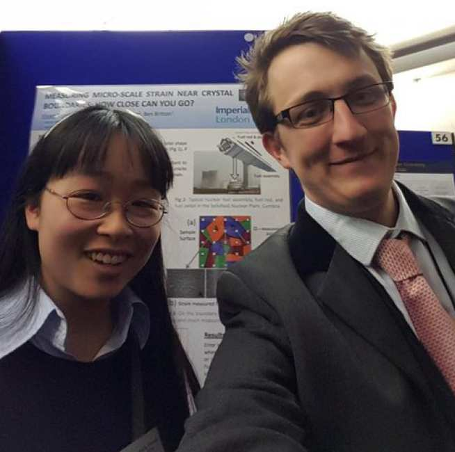 Vivian Tong and Dr Ben Britton