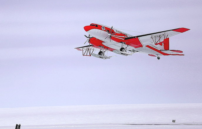 Antarctic survey plane