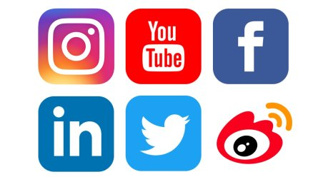 Social media icons: Instagram, YouTube, Facebook, LinkedIn, Twitter, Weibo