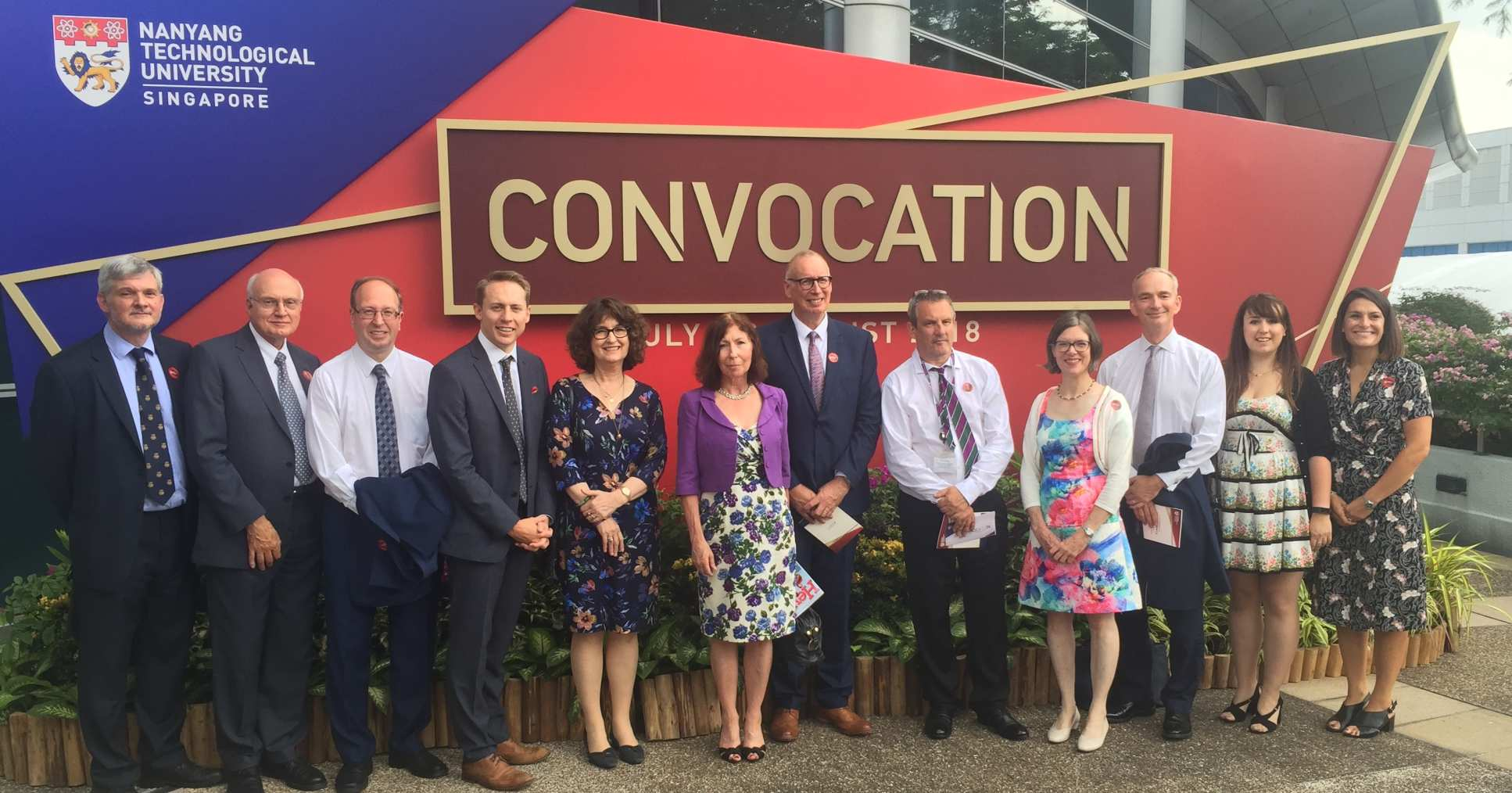 London-based LKCMedicine staff and supporters at the Convocation