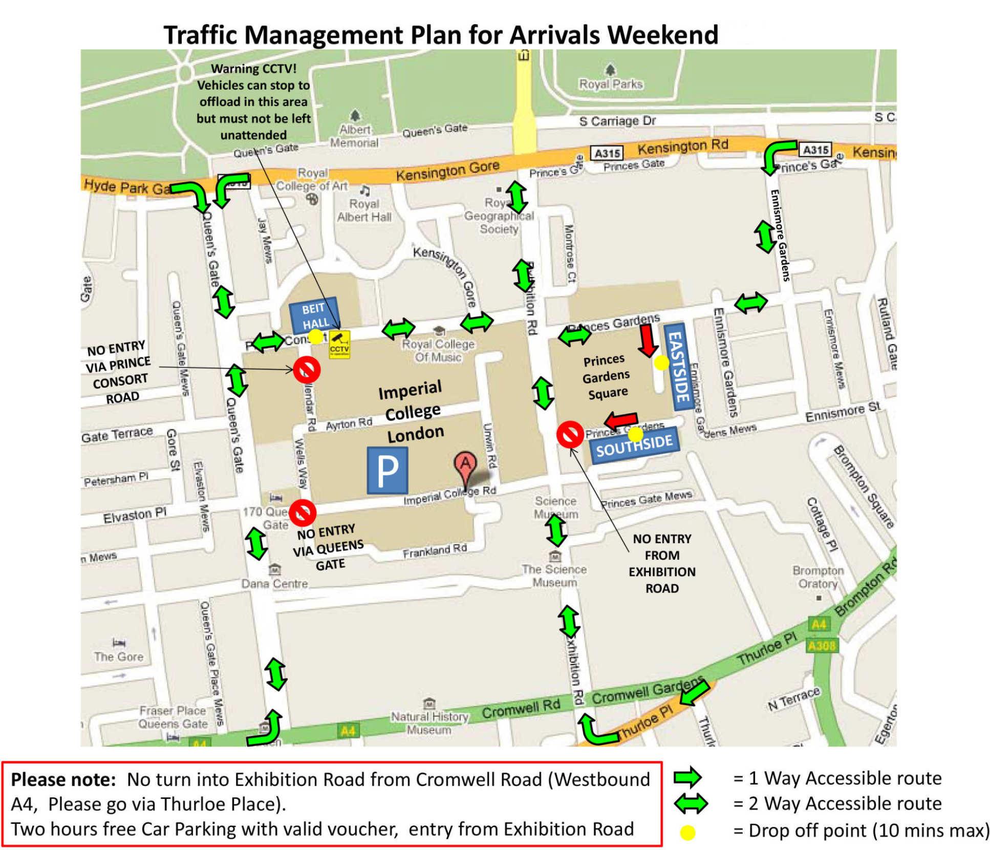 South Kensington Map South Kensington traffic management | Study | Imperial College London South Kensington Map