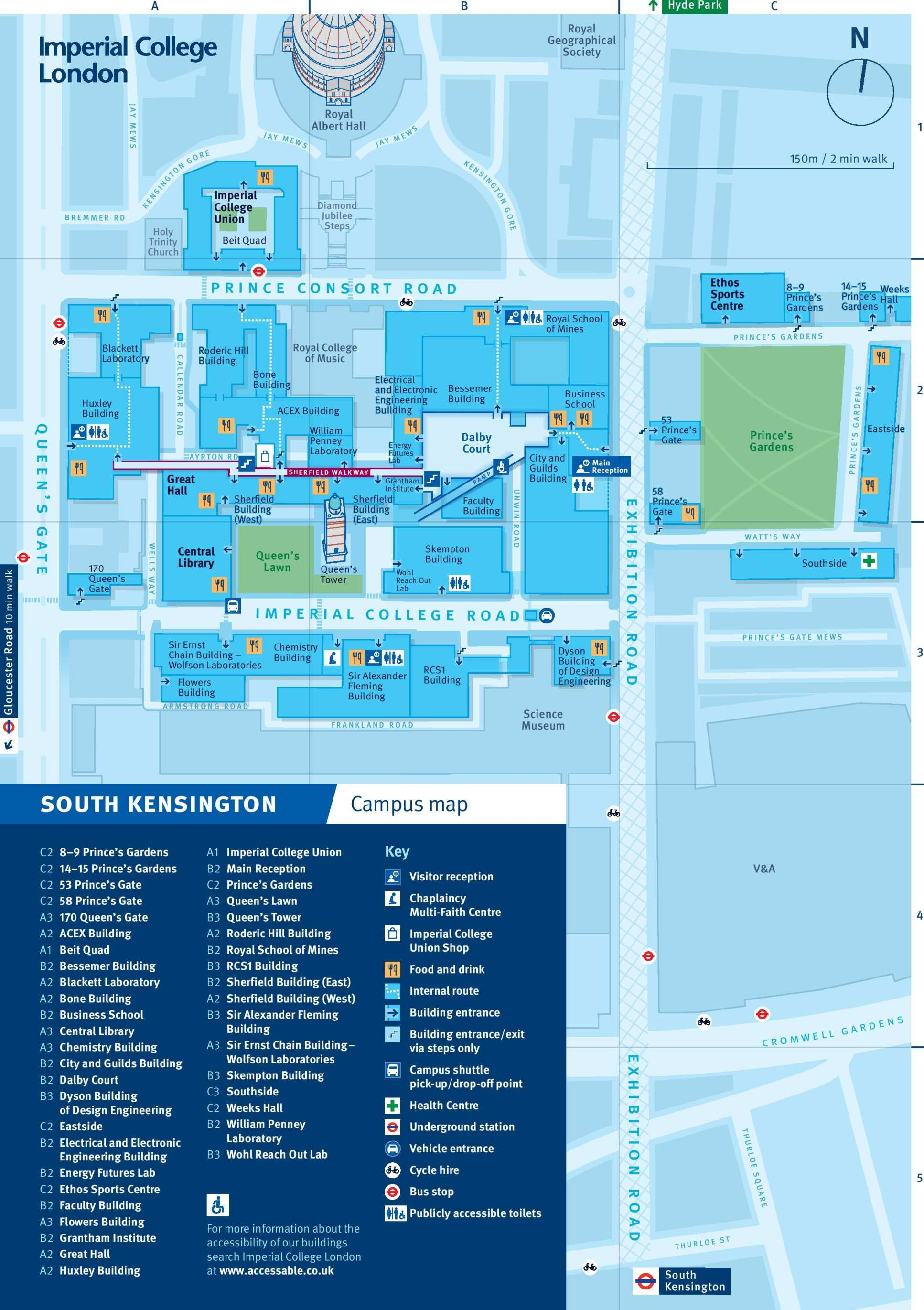 A map of South Kensington Campus