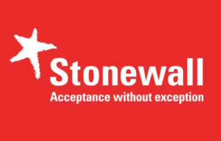 logo reads Stonewall Acceptance without exception