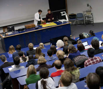 Students in lecture hall, FJ Gaylor