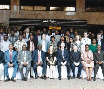 Attendees of the three-day workshop on synthetic biology in Nairobi