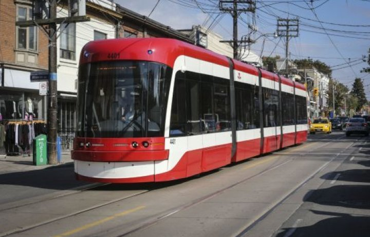 Photo of a Toronto TTC light rail vehicle