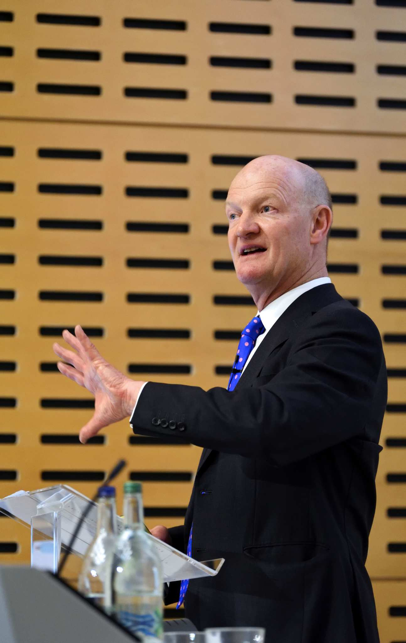 Lord David Willetts speaking at the lecture