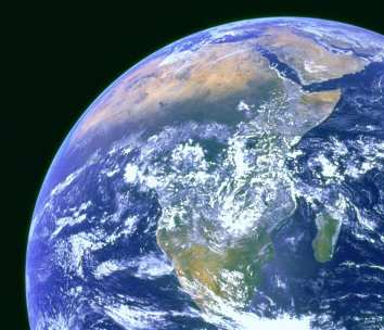 The African continent as seen from space