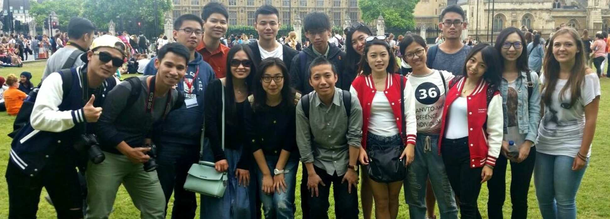 International students on a trip
