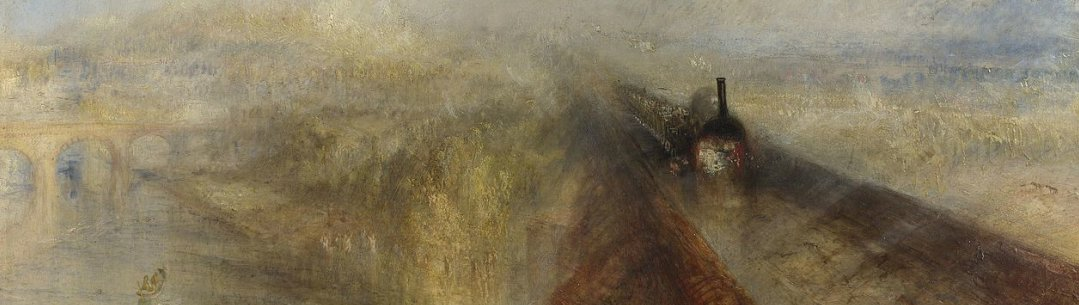 Detail of painting, Rain, Wind and Speed by Turner