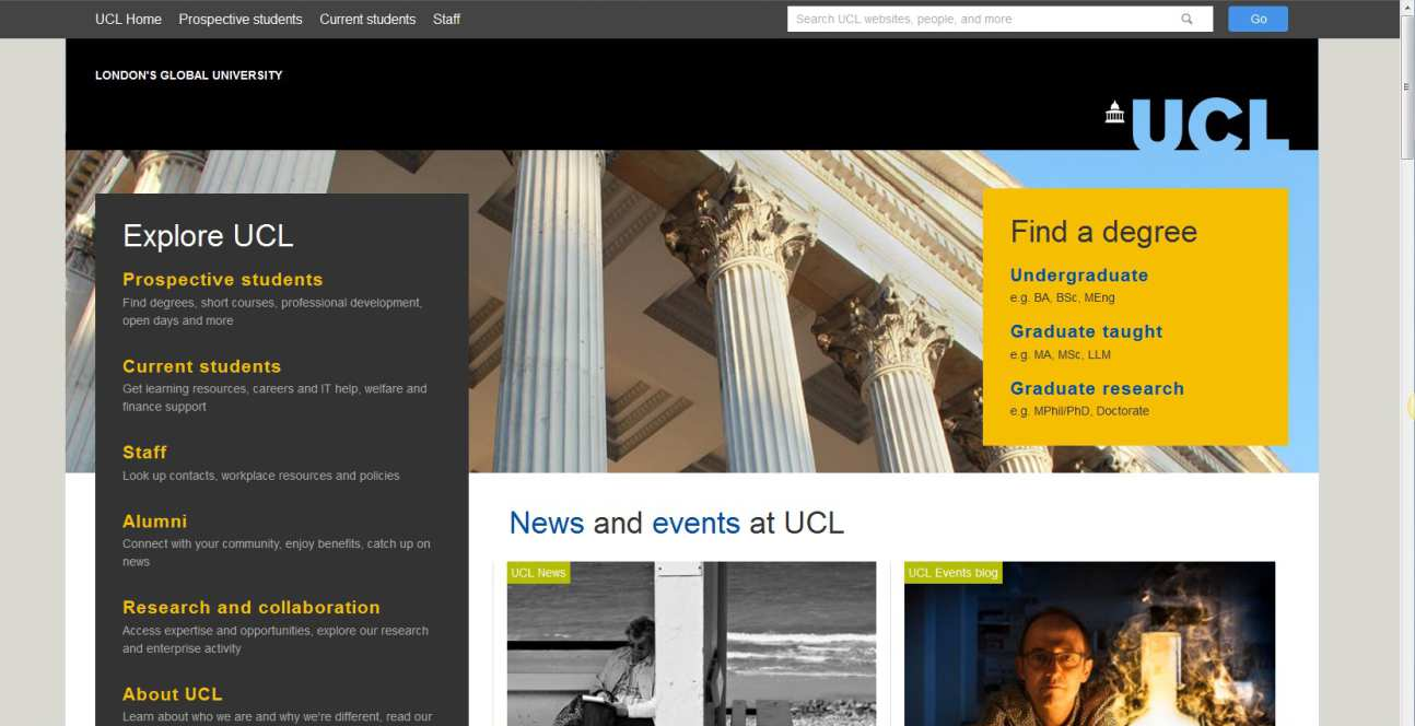 UCL webpage