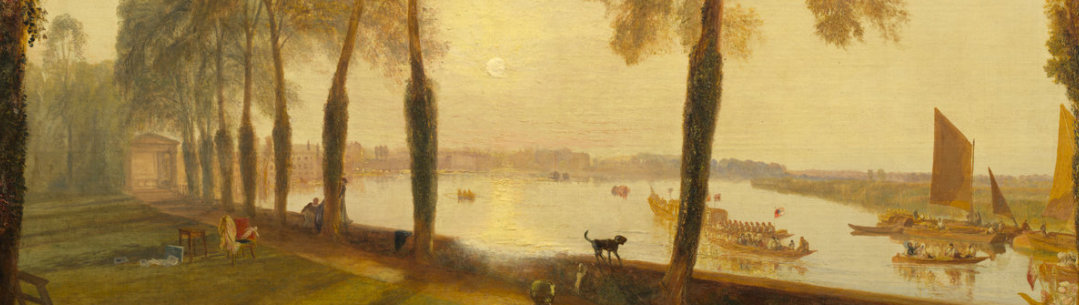 Detail of Landscape painting by Turner
