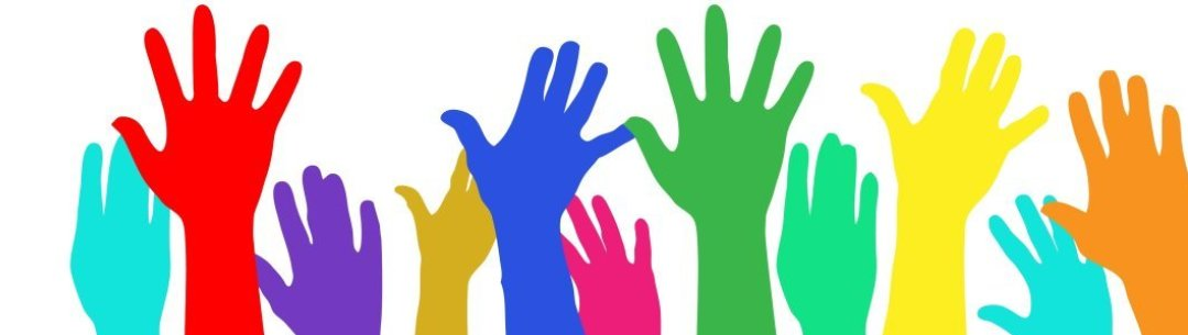 Image of upraised hands