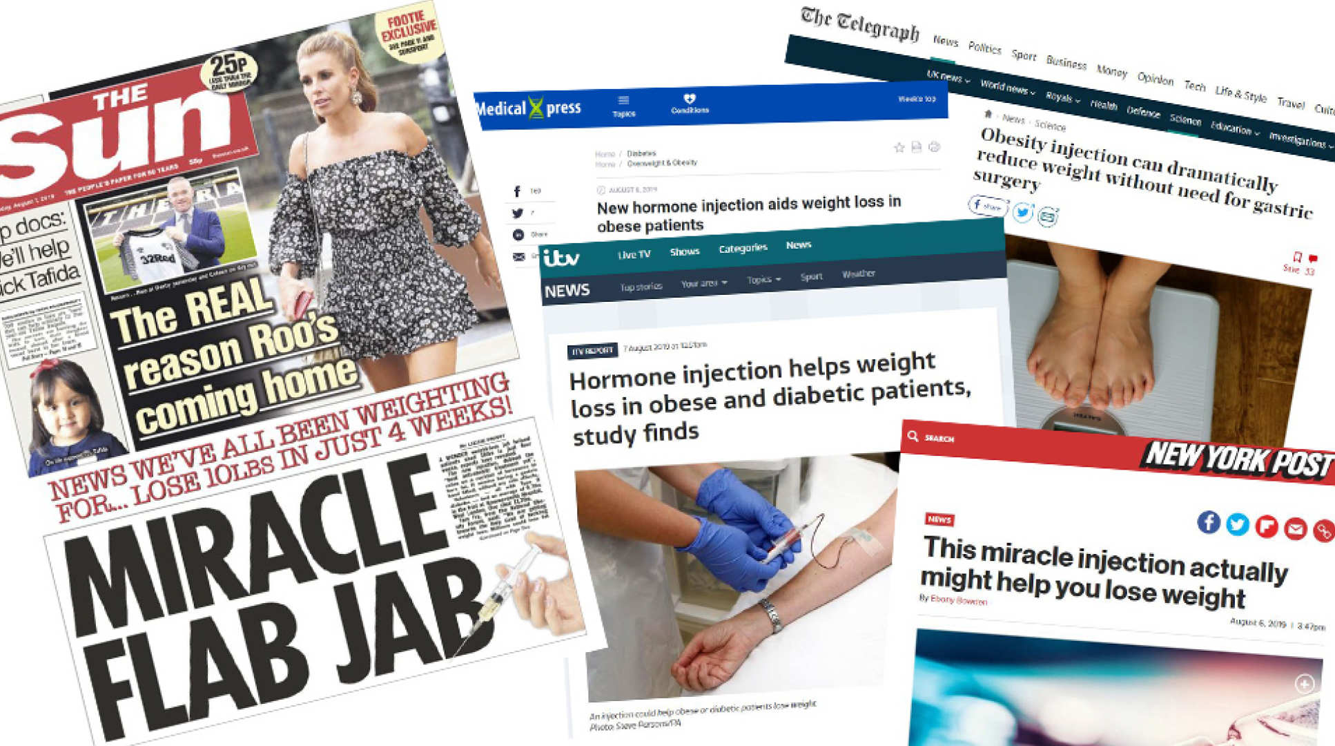 A selection of media cuttings about the story