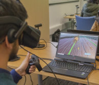 Image of VR being used for learning