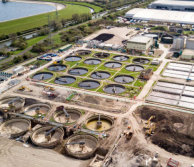 water sewage treatment works
