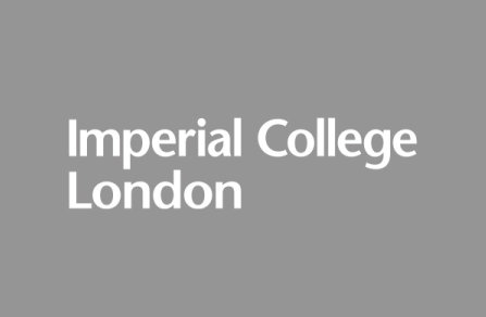 Imperial College London logo - White on dark grey background