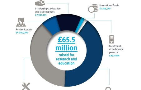 Infographic showing donation allocations