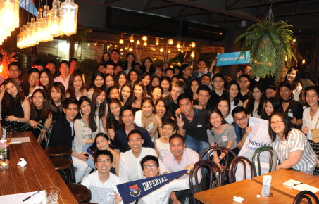 Alumni in Asia celebrating Alumni Weekend