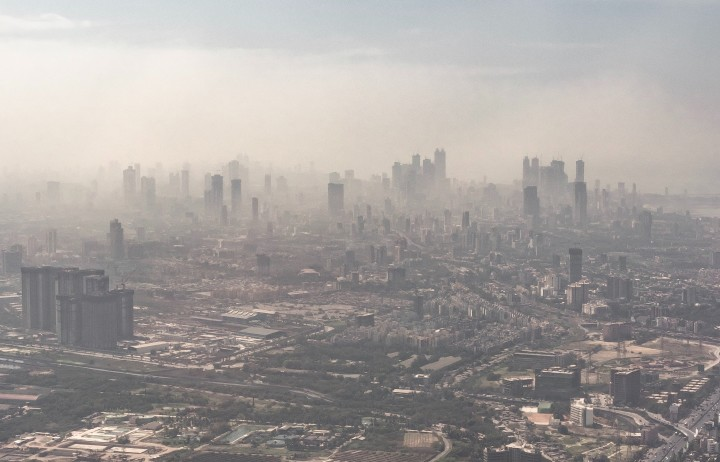City clouded by pollution