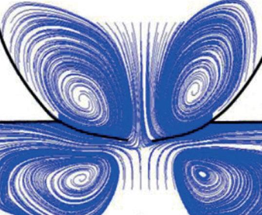 Streamlines of a coalescing drop