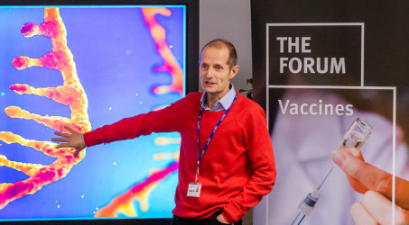 Robin Shattock presents on vaccines at Forum