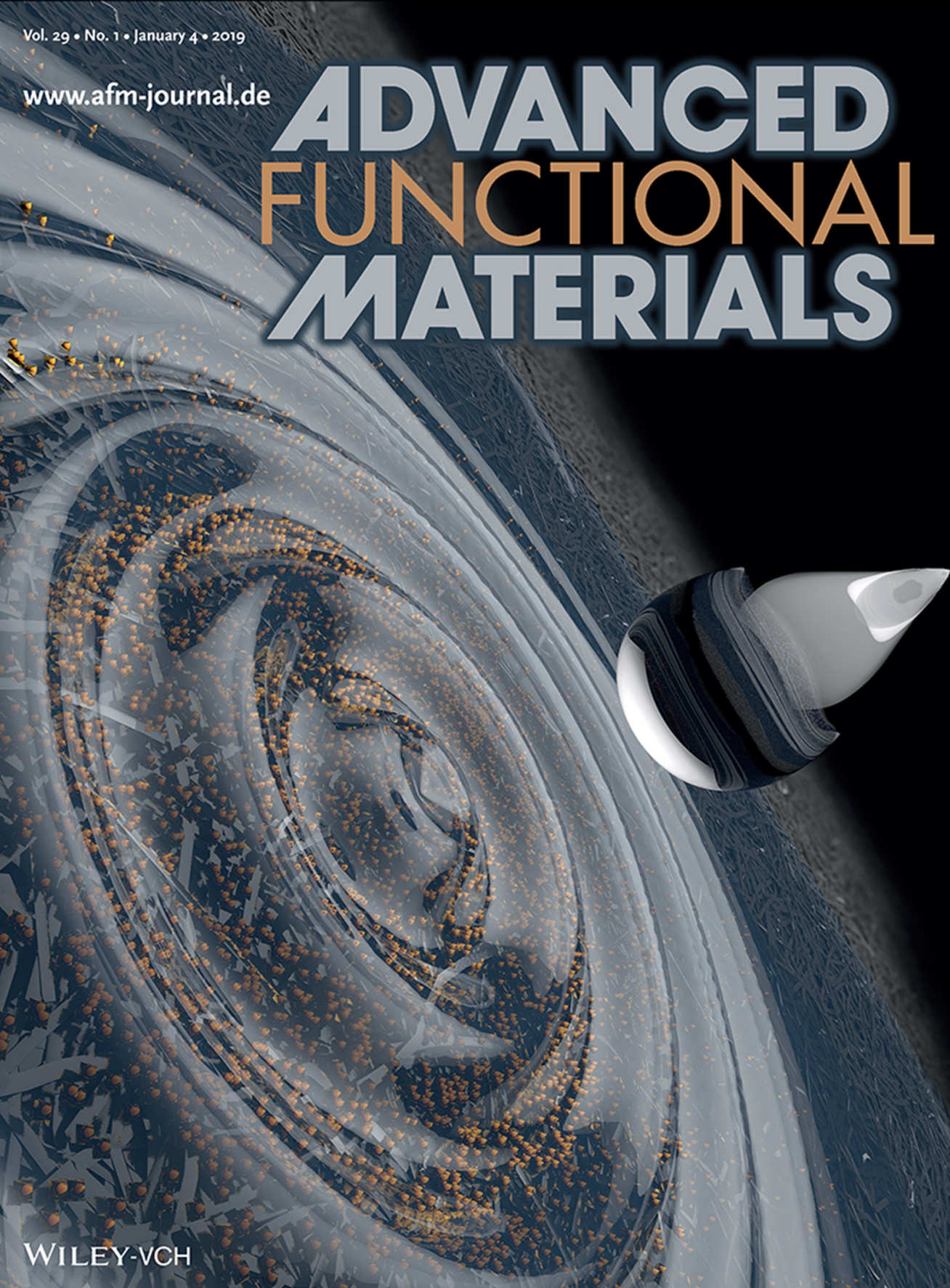 An illutration of the technique on the cover of the journal