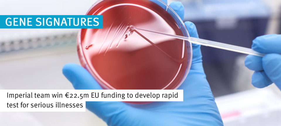Imperial team win €22.5m EU funding to develop rapid test for serious illnesses