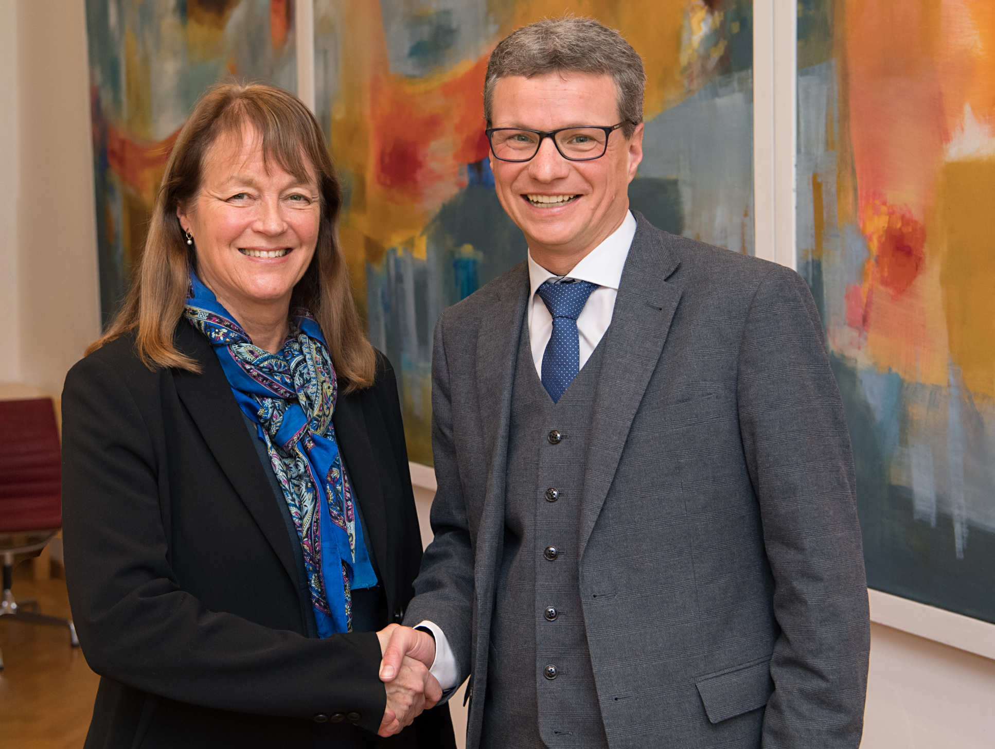 President Alice Gast with Minister Bernd Sibler