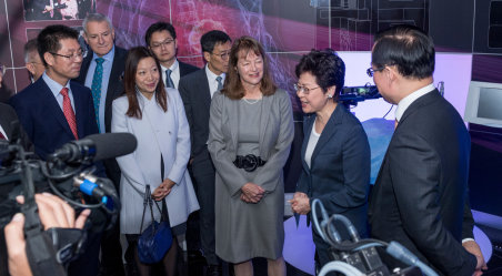 Alice Gast with Hong Kong's Chief Executive Carrie Lam