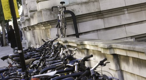 Bicycles on the South Kensington campus