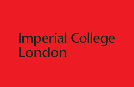 Imperial College Logo - black on red background