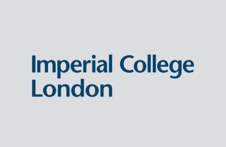 Imperial College Logo - blue on grey background