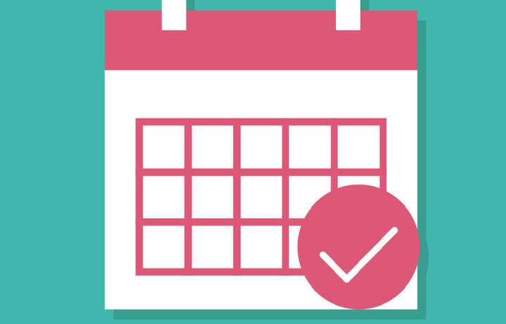 Simplified calendar icon