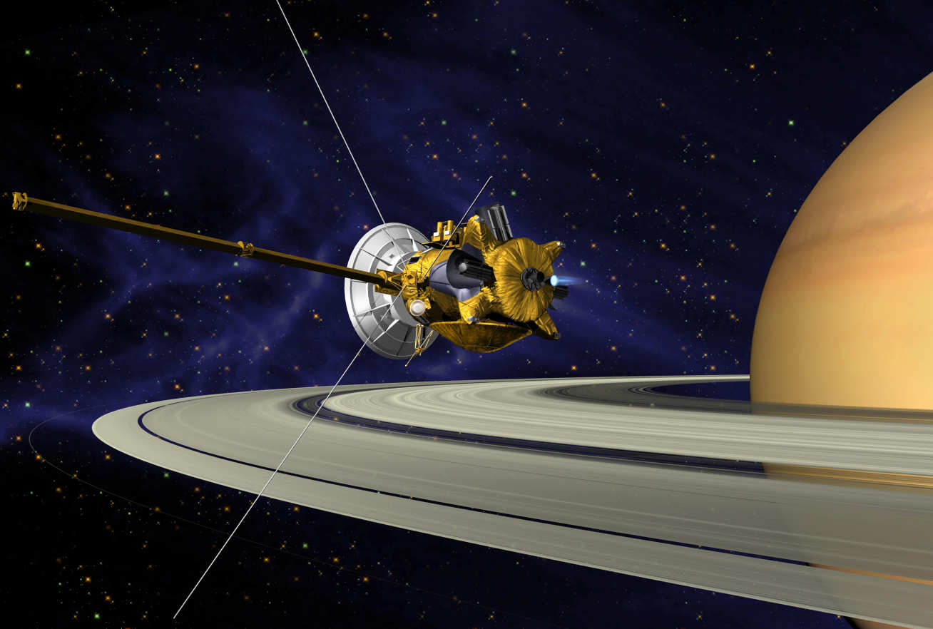 Cassini around Saturn