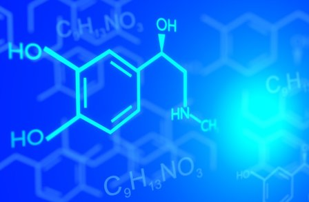 chemical formulas on a blue background